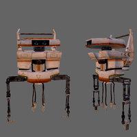 realistic scifi helper robot 3D model