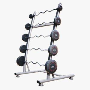 lightwave single sided barbell 3D model