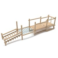 3D wooden playground model
