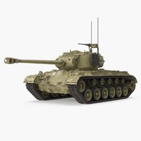 M26 Pershing Medium Tank with Dirt
