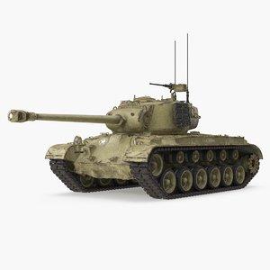 3D model m26 pershing medium tank