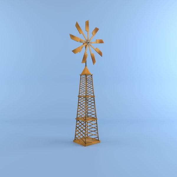 3D cartoon windmil