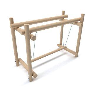 wooden playground 3D model