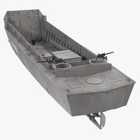 lcvp higgins boat rusty 3D model