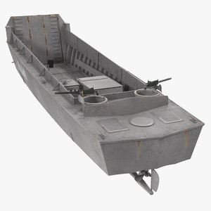 lcvp higgins boat rusty 3D model