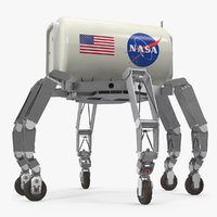 athlete lunar rover rigged 3D model