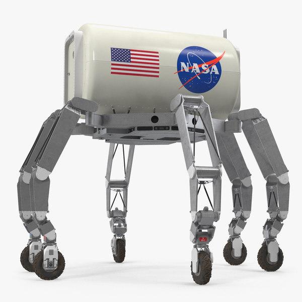 athlete lunar rover rigged 3D model