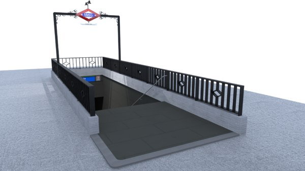 3D model subway entrance