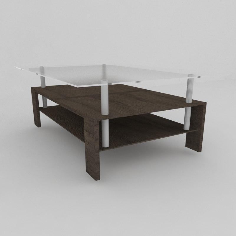 3D modern club coffee table