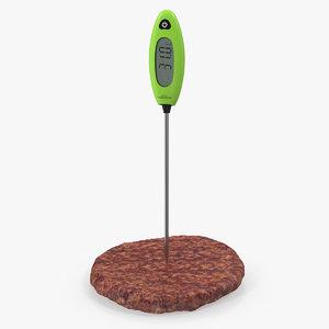 digital food thermometer burger model
