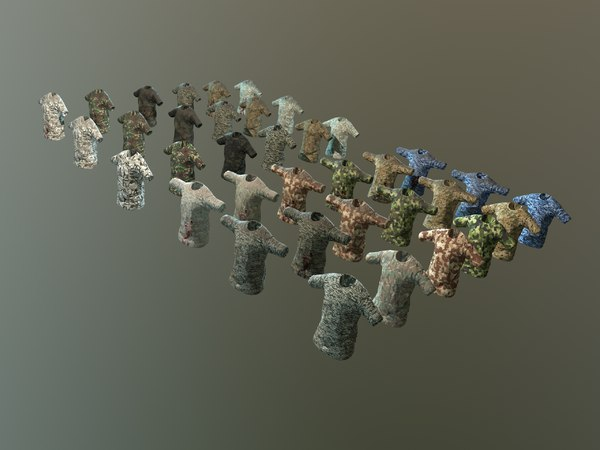 3D model camouflaged shirts
