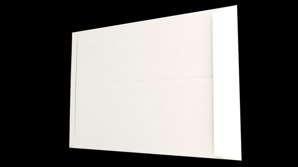 3D model envelope size c5 pocket