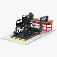 3D hydraulic lift wheelchair