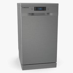 inox dishwasher samsung dw4000km 3D