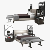3D holly hunt bedroom furniture model