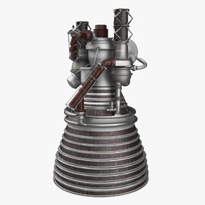 3D model j2 rocket engine
