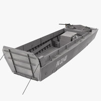 3D landing craft higgins boat