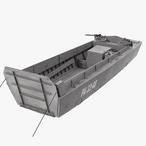 3D landing craft higgins boat