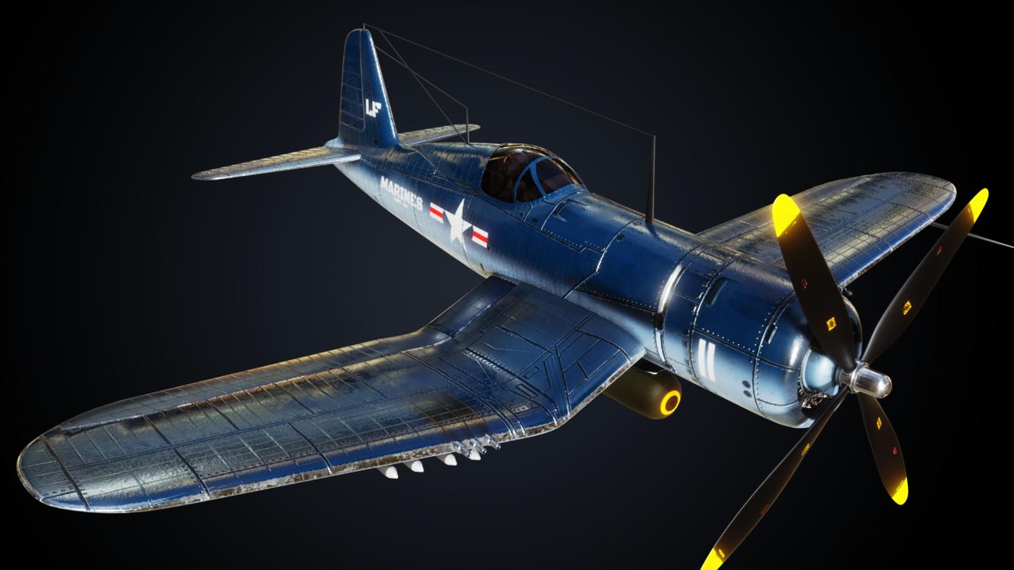 vought f4u corsair 3D model