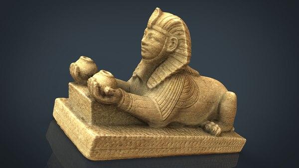 3D model alabaster sphinx