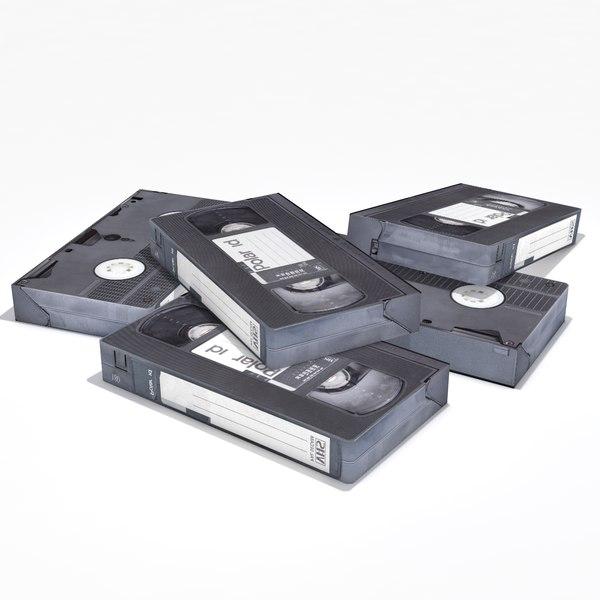 vhs cassette 3D