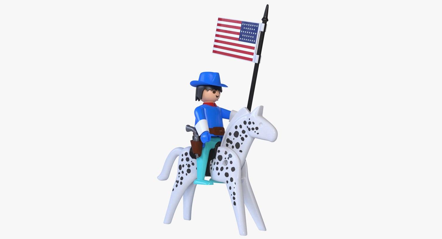 3D playmobil cavalry