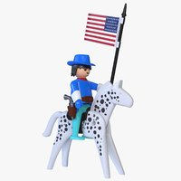 3D playmobil cavalry