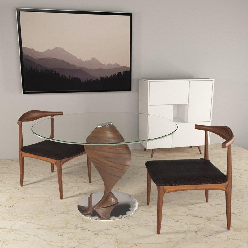 3D soul table glass story