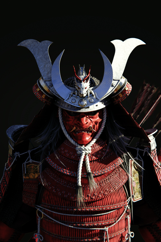3D samurai armor bundles model