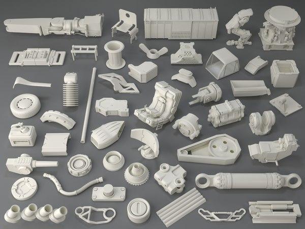 kit bashes - 50 3D model