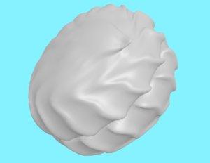 3D zefir russian marshmallow model