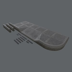 sidewalk modular set 3 3D model