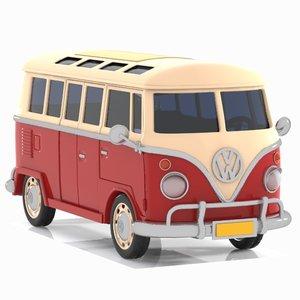3D minibus bus classic