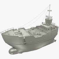 ship subdivide 3D model
