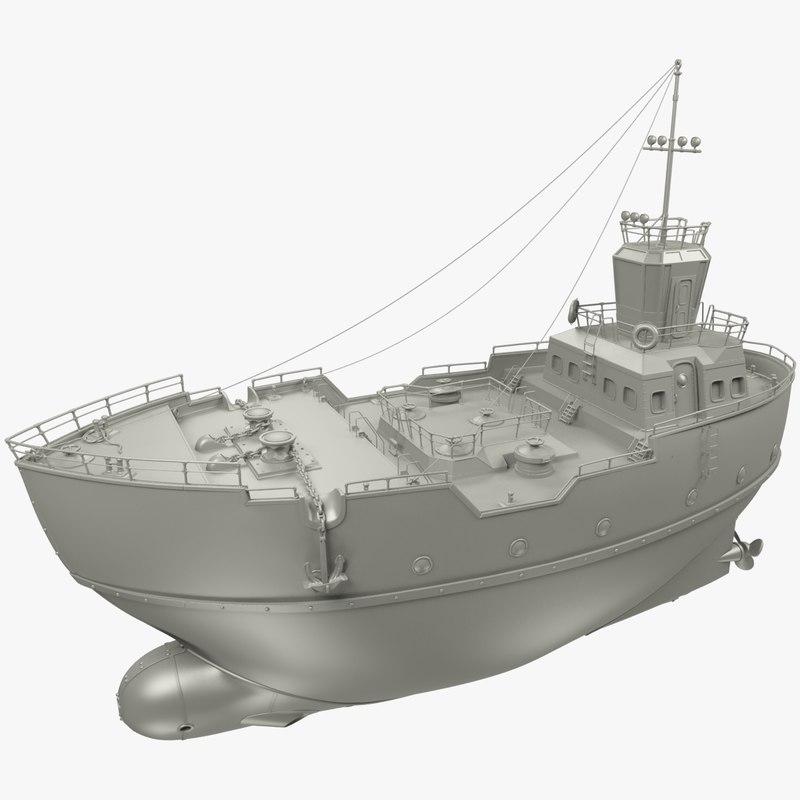 ship subdivide 3D model