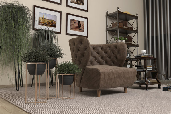 3D living room vrayforc4d 3 model