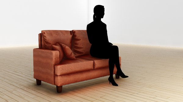 small sofa 2 person 3D