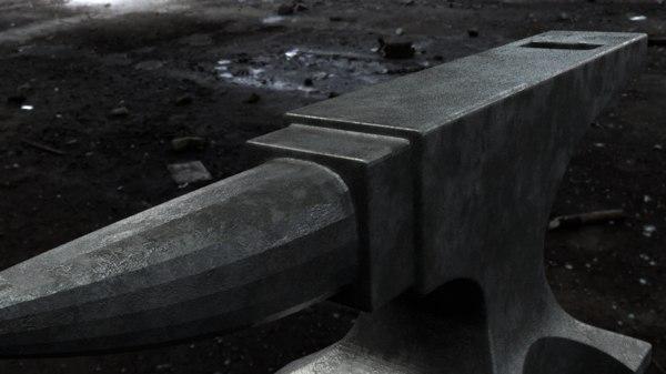 3D anvil quads model