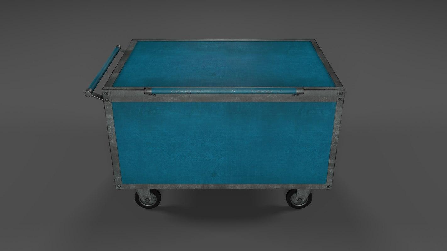 cart rusty 3D