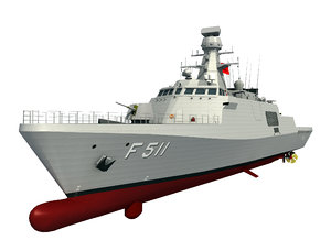 milgem class corvettes warship 3D