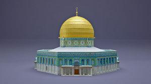 al-aqsa mosque dome rock 3D model