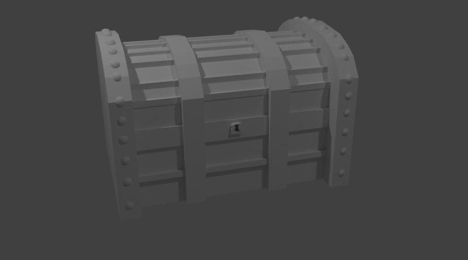 3D simple treasure chest
