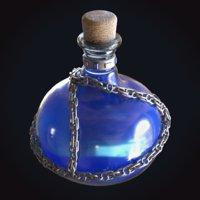 3D blue potion chain mana model