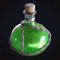 green potion chain stamina 3D
