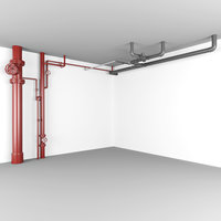 3D pipe water drainage