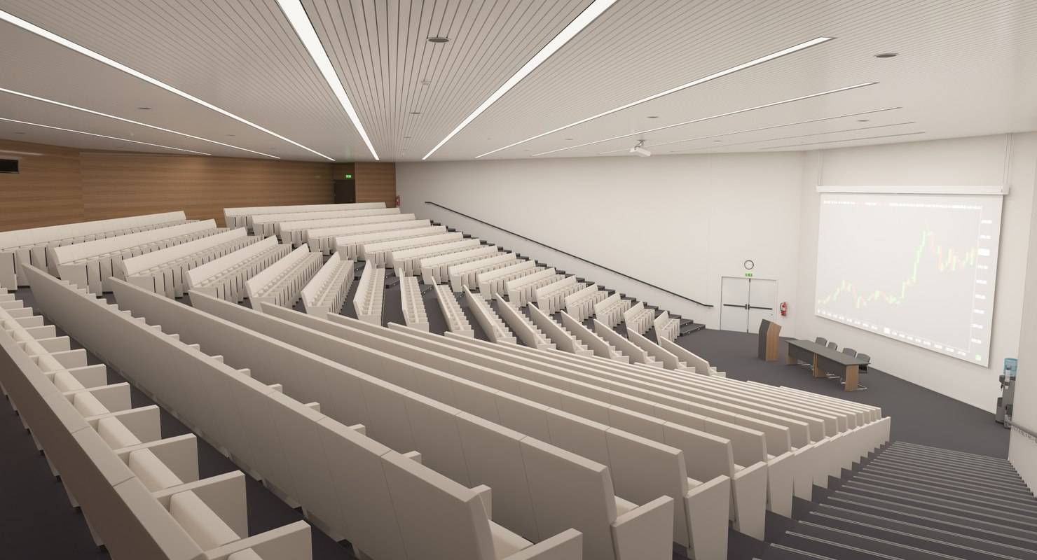 3D lecture hall model