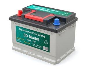 battery car 3D