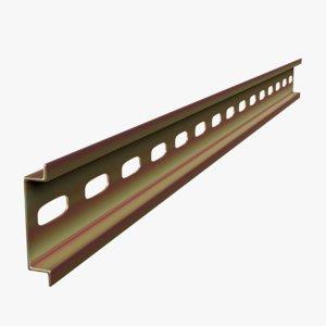 3D din rail model
