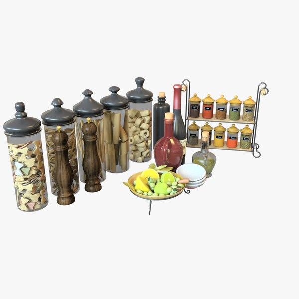 kitchen equipment set 3D model