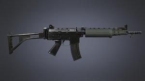 fn fnc carbine 3D